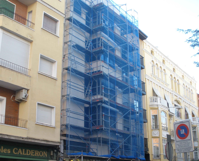 Andamio para rehabilitación de fachada